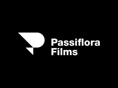 Passiflora Films simple circle triangle shape geometric minimal mark symbol identity branding logo