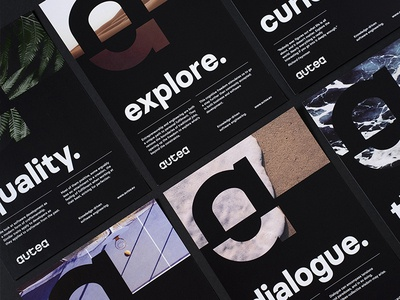 Autea Posters mark typography developers software poster minimal brand logo stationery print identity visual