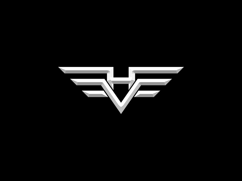 VH Logo Design debut shot first shot white black illustration lettermark minimal symbol mark design logo vh