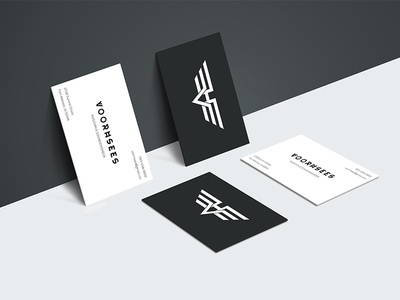 vh business card design by rishi shah logo ui designer dribbble
