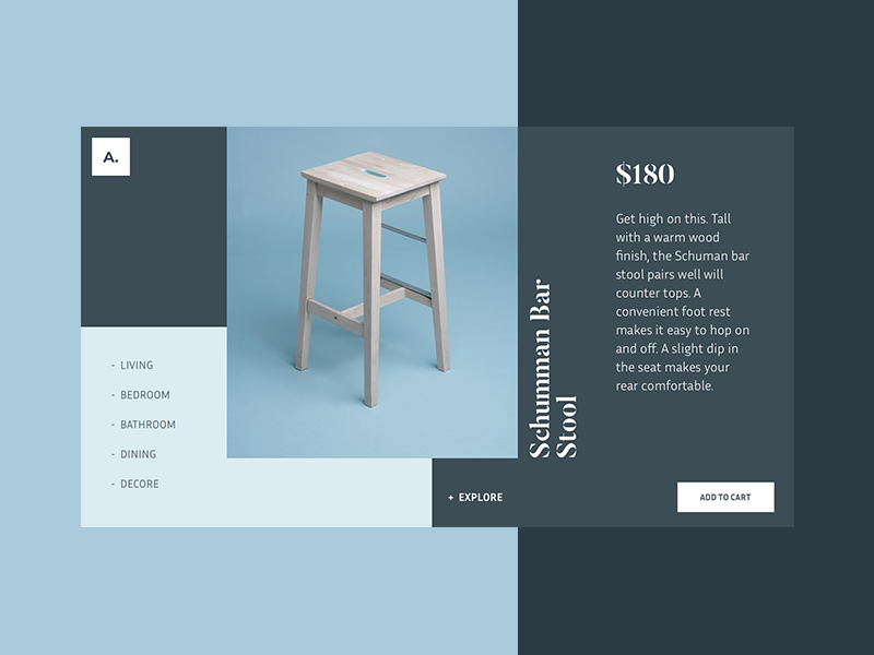 UI Experiment #28 one page website font free unsplash homepage experiment ui ux landing website blog mondrianizm