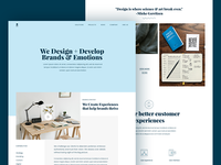 Homepage Design for an Agency