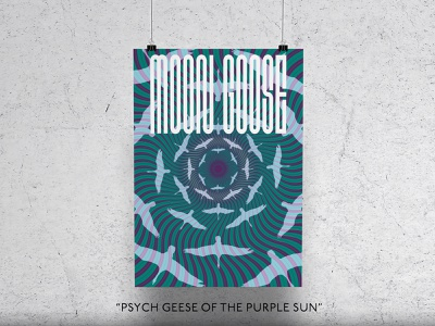 Psych Geese of the Purple Sun illustration poster design poster goose psychedelic psych