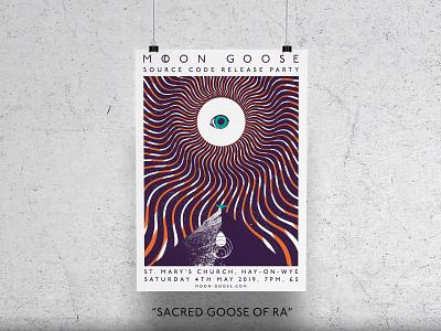 Sacred Goose of Ra Art Print sun goose pyramid psychedelic gig poster print artwork