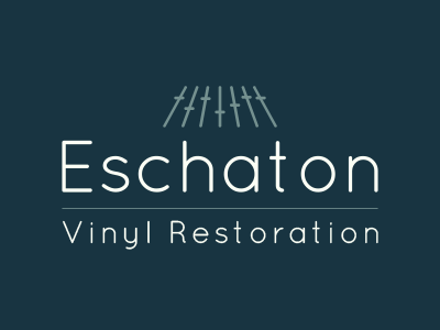 Eschaton Logo (dark variant) logo design audio vinyl faders