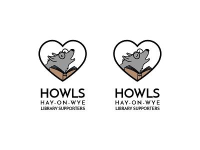 Howls Logo V2 hay-on-wye heart book library wolf logo