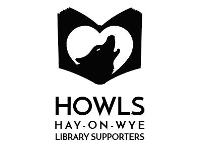 Howls logo V3 howls heart wolf logo book hay-on-wye