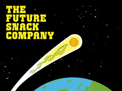 Future Snack Company Identity identity space meteor comet future snack