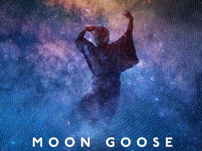 Moon Goose @ New Radnor Gig Poster (detail) stars dance space goose moon poster
