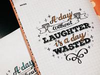 Handlettering agenda