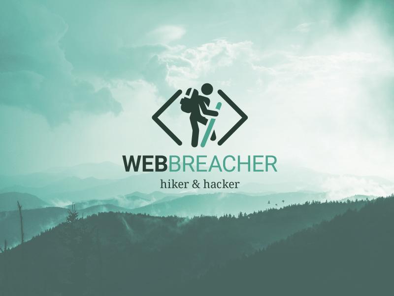 Webbreacher identity (WIP) landscape identity hike hacker graphic nature clouds clean portfolio logo design logo branding