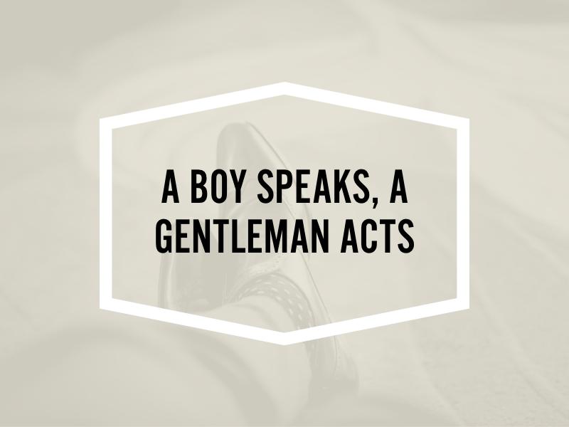 Project Gentleman minimal quote geometric corporate dandy clean abstract graphic type branding gentleman