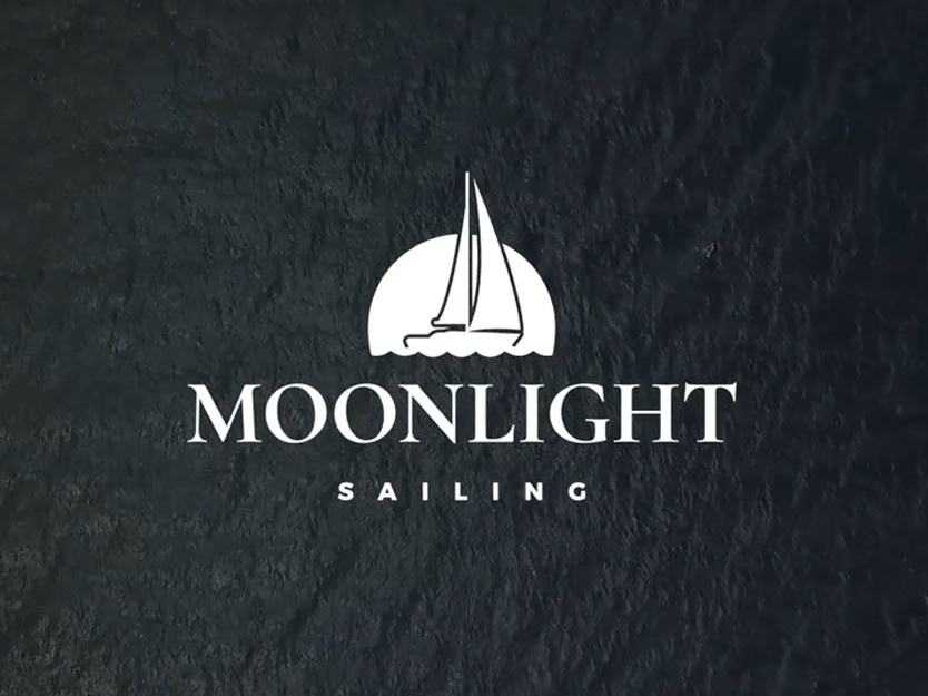 Moonlight Sailing norway sailing minimal identity branding graphic vector logo design