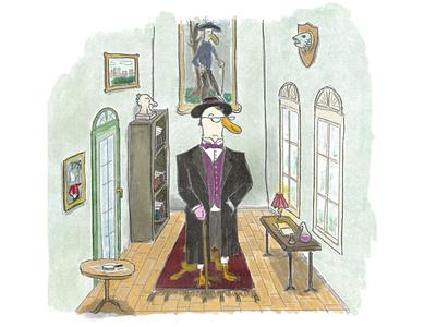Gentleman Ducktective digital art procreate art dailyart illustration procreate
