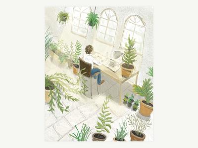 The Slightly Too Friendly Plant daily art digital art digital illustration procreate art procreate illustration