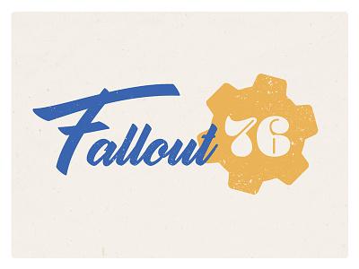Fallout 76 grunge fallout 76 video game typography logo brush script retro fallout