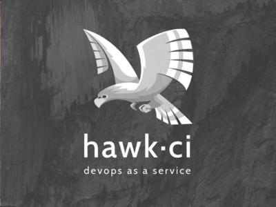 Logo monochrome Hawk CI