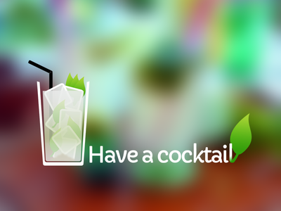 Have a cocktail android application cocktail logo hand-made mojito glass freeze leaf