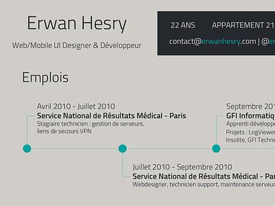 Resume cv resume new visual identity work experience graphic timeline