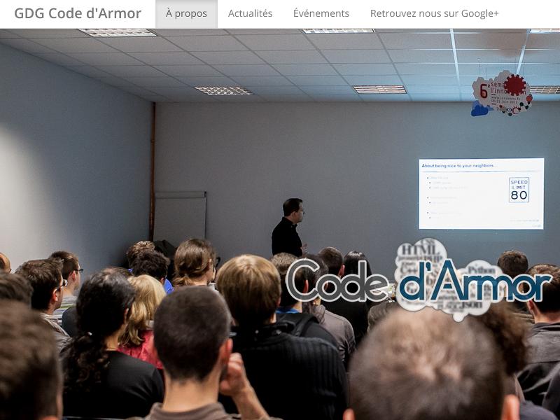 Code d'Armor webupdate code darmor website bootstrap google gdg developer webdesign responsive