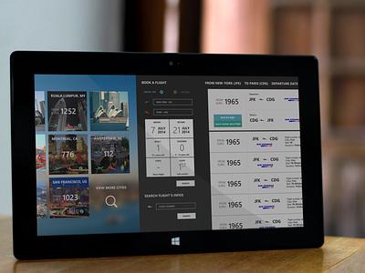 Destinations - flight search destinations travel app windows8 search flight ticket