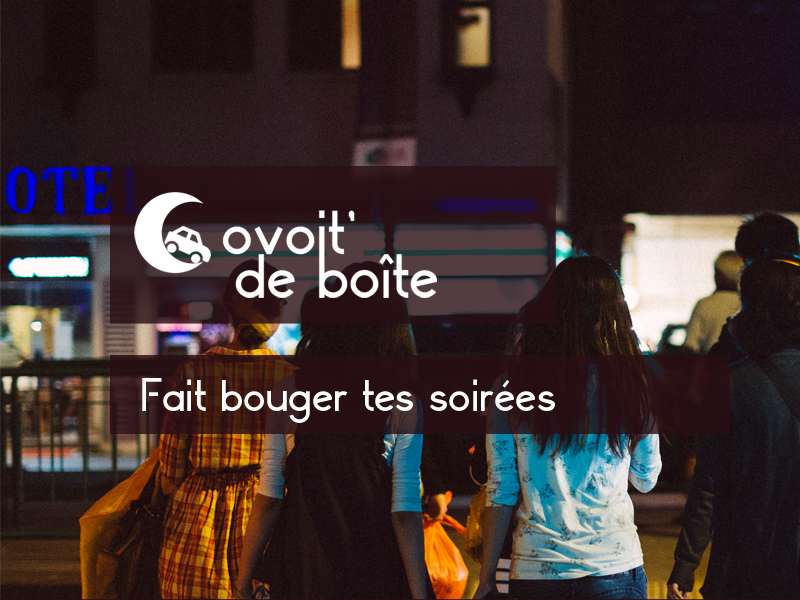 Covoit' de boîte webdesign web fullscreen photo video night club night logo covoiturage design