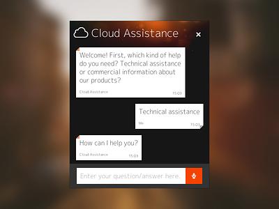 Cloud Assistance chat chat cloud assistance web design