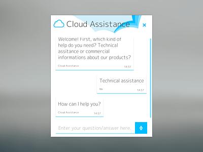 Cloud Assistance chat  chat cloud assistance web design theme
