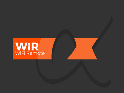 WiRα logo space white alpha α logo camera remote wifi