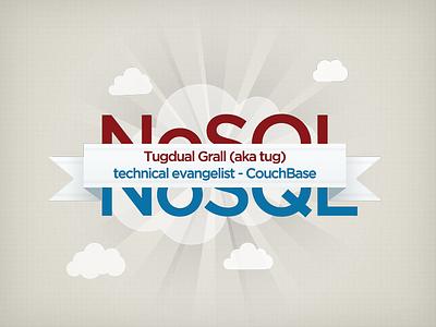 NoSQL Event logo nosql event logo couchbase code darmor cloud ribbon