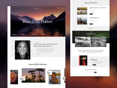 Cristina Mittermeier Photographer 📸 design art idea typogaphy style adobe xd landscape picture earth planet photographer photography minimal website concept web ux ui design