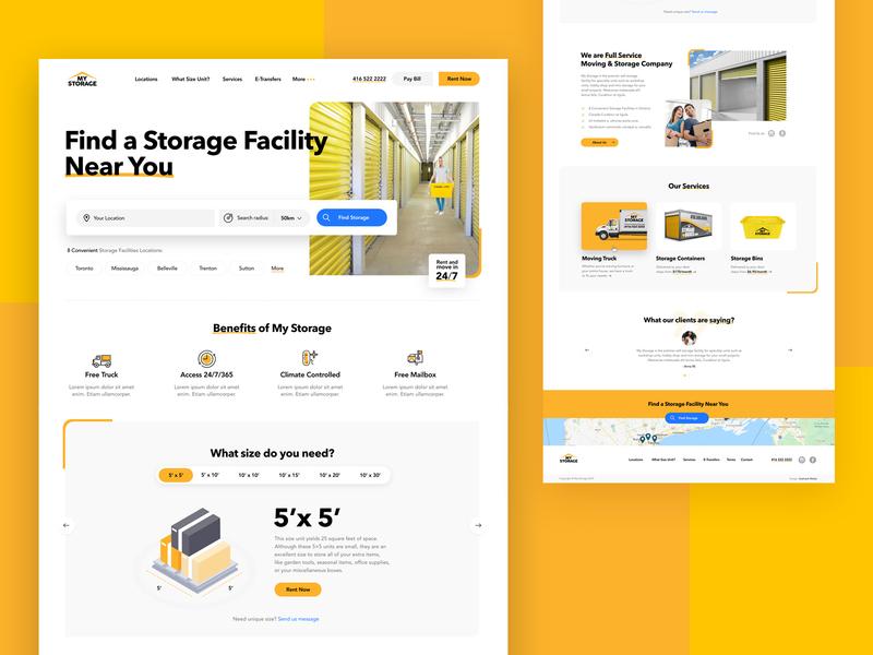 My Storage illustrations typography vector minimal ecommerce website concept web ux ui design