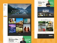 Slow Life colours minimal web design typography life health website concept ux web ui design