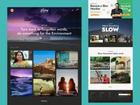 Slow Life 2 wordpress webdesigner flat colours agency landing page web design branding typography minimal website concept ux web ui design