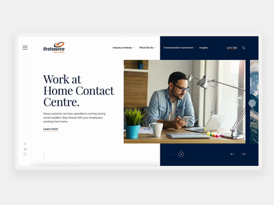 Firstsource Concept website design company solutions minimal interactions typography branding concept web animation bussines ux ui design