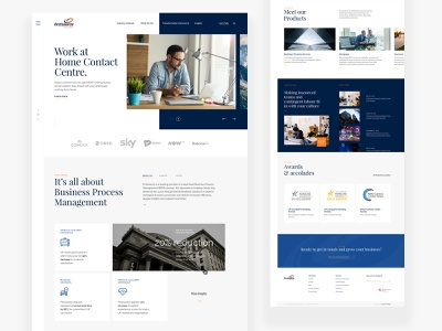 Firstsource Concept specialist solutions minimalist website design typography company bussiness branding concept ux web ui design