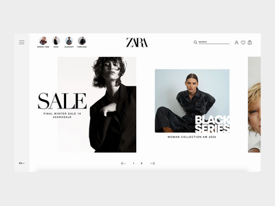 Zara Homepage Concept