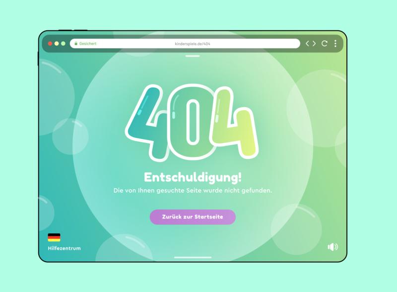 Children's 404 Page - Updated