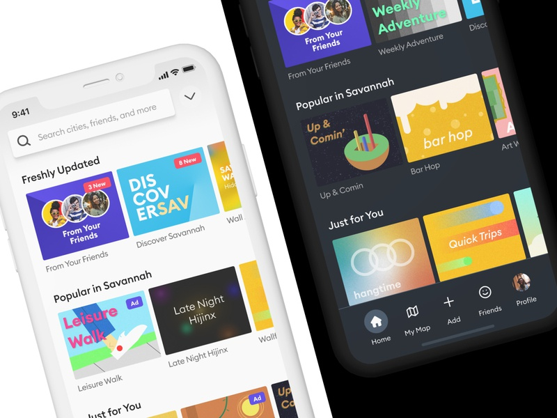 Pocket - Light and Dark Mode app application typography app branding vector light ui light mode dark mode dark ui ux design ui