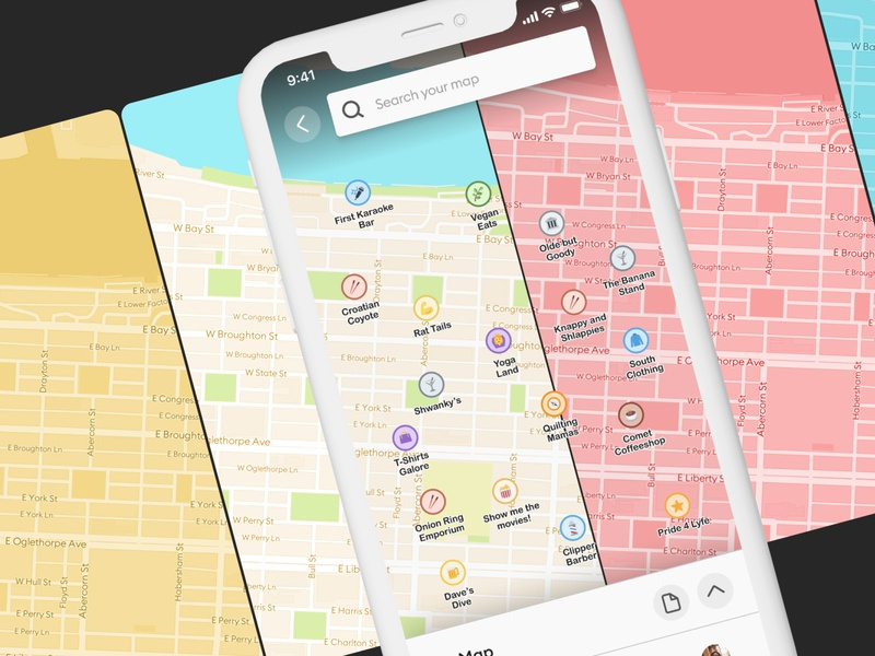 Pocket - Map Themes + Customization mapping map illustration app branding application app ux design ui