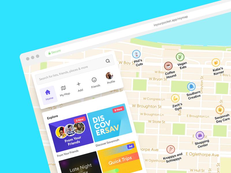 Pocket - Desktop Version icon web app web branding app ux design ui