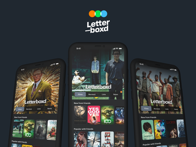 Letterboxd Landing (w/ Initial Viewing + Interaction areas) design ux ui redesign movies movie app movie letterboxd film app design application app