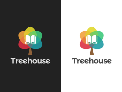 Treehouse Branding illustration design uxdesign rainbow house tree branding logo interface human factors treehouse ux ui