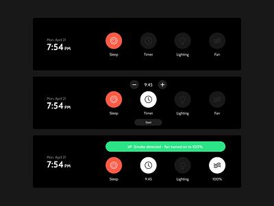 Range Hood - UI Redesign screen appliance redesign design ux ui