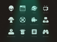 Alien Encounters - Icon Set
