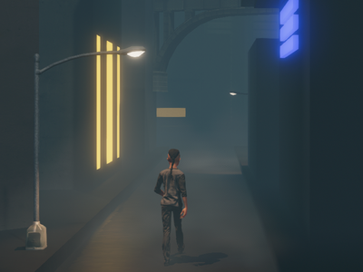 Adding some Atmo and perspective to the New Thing unity learning animation