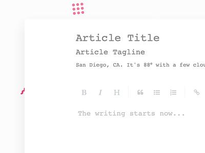 Writing Interface unsplash articles writing ui ux