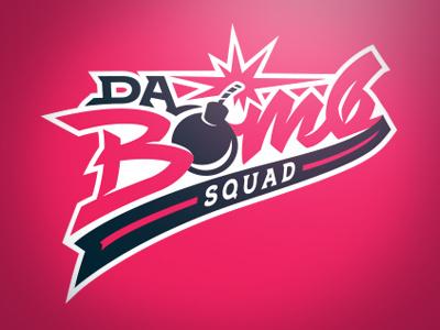 Da Bomb Squad sports logo custom lettering type athletics baseball softball