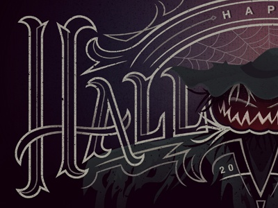 Halloween 2014 Wallpaper halloween wallpaper illustration custom lettering spooky jackolantern scary trick or treat type hand drawn