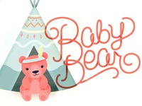 Baby Bear Shower invite graphics